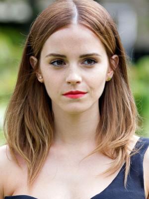 Emma Watson Beeindruckende Gerade Spitzefront Echthaar Perücke