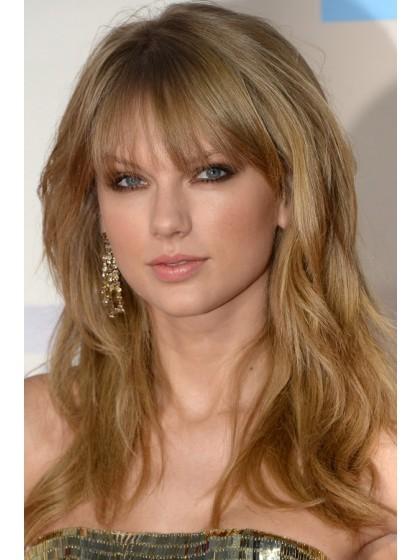 Lange Wellige Taylor Swift Frisur Remy Perucke