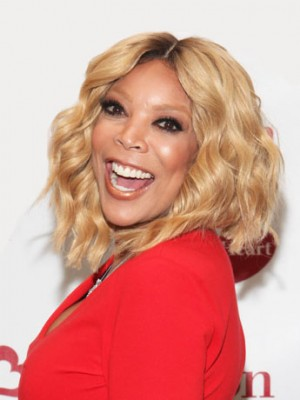 Fein Wellig Wendy Williams Spitzefront Echthaar Perücke