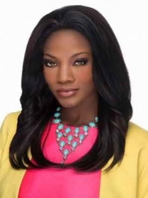 Moderne Spitzefront Gerade Wunderschöne Afro Amerikanisch Perücke
