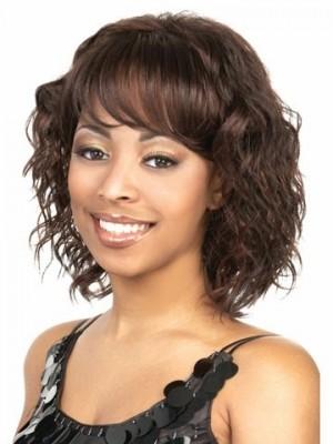 Spitzefront Wellige Synthetisch Kunstvolle Afro Amerikanisch Perücke