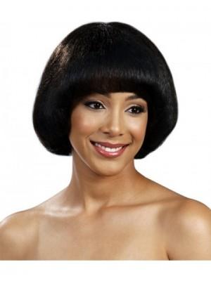 Zauberhafte Spitzefront Elegante Gerade Afro Amerikanisch Perücke