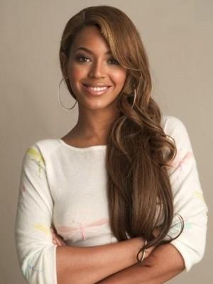 Beyonce Lang Wellig Frei Stil Vollspitze Perücke
