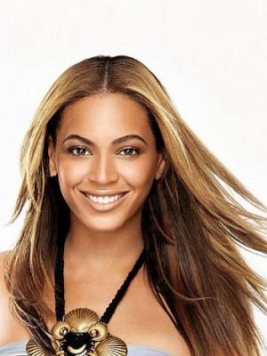 Gerade Moderne Beyonce Lange Synthetische Perücke