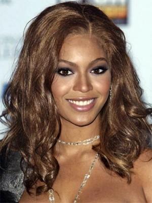 Beyonce Mittle Wellige Dichte Synthetische Perücke