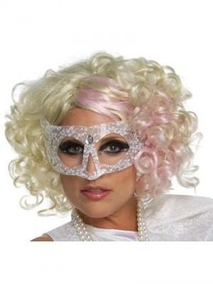 Lady Gaga Modische Mittle Wellige Spitzefront Perücke