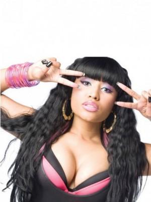 Synthetische Nicki Minaj Lange Wellige Perücke