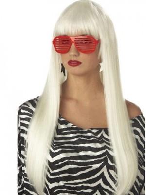 Lady Gaga Glamourös Lange Gerade Kappenlos Perücke