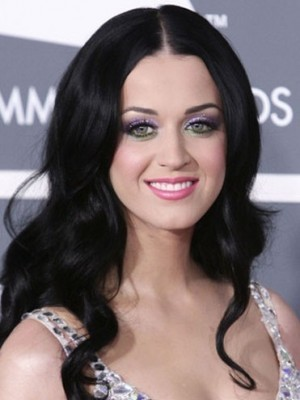 Lange Wellige Katy Perry Synthetische Perücke