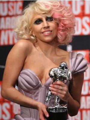 Wunderschöne Mittle Wellige Lady Gaga Kappenlose Perücke