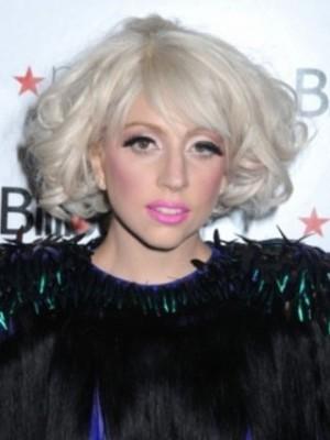 Lady Gaga Märchenhafte Bob Styling Wellige Perücke