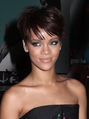 Rihanna Extra Kurz Sportliche Synthetische Perücke