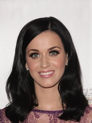 Wunderbare Echthaar Katy Perry Gerade Vollspitze Perücke