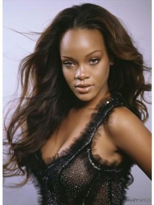Sagenhaft Wellige Rihanna Styling Handgebundene Perücke