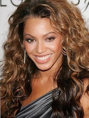 Vollspitze Beyonce Lange Wellige Echthaar Perücke