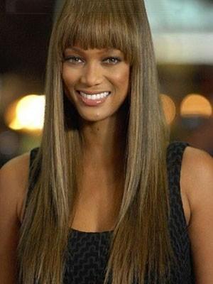 Tyra Banks Gerade Märchenhafte Spitzefront Remy Perücke