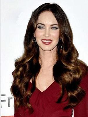 Megan Fox Lange Frisur Wellige Spitzefront Perücke
