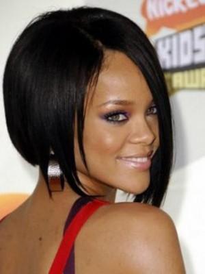 Rihanna Stilvolle Kurz Gerade Vollspitze Perücke