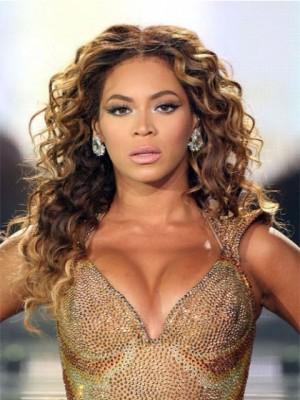 Beyonce Wellig Echthaar Lange Schnitte Perücke
