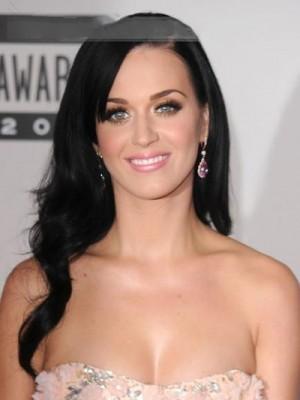 Katy Perry Süße Lange Wellig Spitzefront Perücke