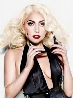 Wunderbar Wellig Lady Gaga Spitzefront Synthetische Perücke