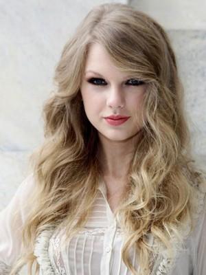 Wunderbar Taylor Swift Wellig Spitzefront Echthaar Perücke