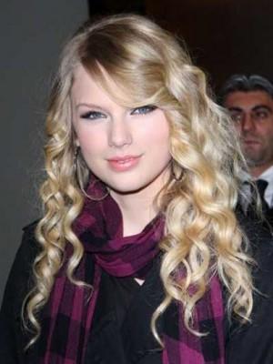 Dichte Wellig Spitzefront Kunsthaar Taylor Swift Perücke