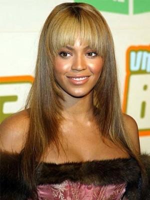 Beyonce Zauberhafte Lange Gerade Echthaar Perücke