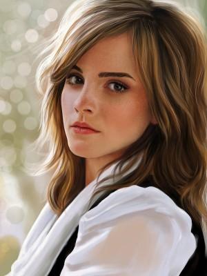Sehr Fein Wellig Emma Watson Spitzefront Kunsthaar Perücke