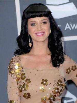 Katy Perry Anbetungswürdige Kappenlos Echthaar Perücke