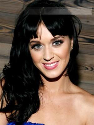 Kappenlos Katy Perry Lange Wellig Perücke