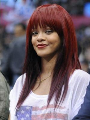 Gerade Rihanna Lange Remy Echthaar Perücke
