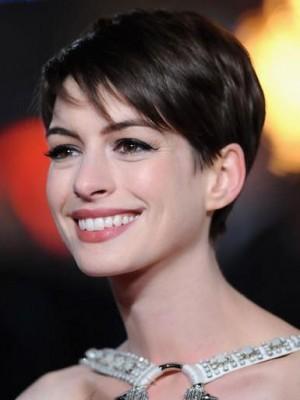 Elfe Anne Hathaway Spitzfront Synthetisch Perücke