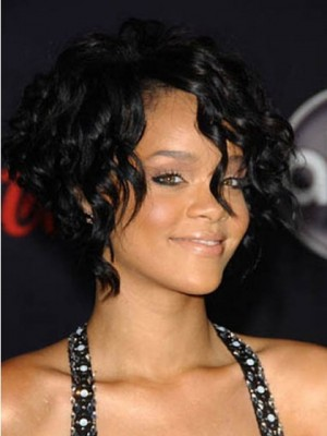 Neuer Stil Rihanna Kurz Haar Kappenlos Perücke
