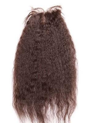 Glatte Yaki Gerade Mittel-geteilte Remy Haar Spitzeschliessen