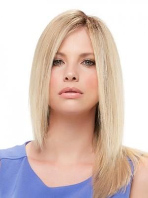 Elegante Blond Wellige Echthaar Perücken