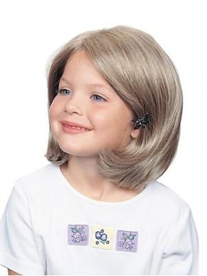 100% Handgebundene Hübsche Bob Mädchen Perücke