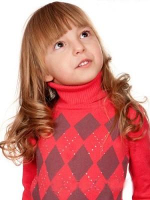 Wunderschöne Wellige Spitzefront Kinder Perücke
