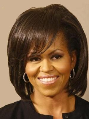 Sehr Populär Afro Amerikanische Gerade Spitzefront Kunsthaar Perücke