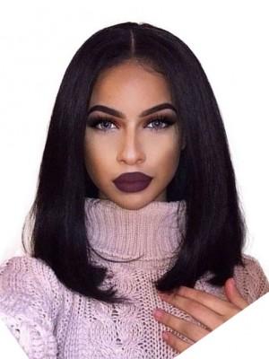 Spitzefront Synthetische Glamourös Gerade Afroamerikaner Perücke