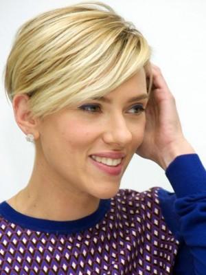 Scarlett Johansson Wirre Gerade Spitzefront Echthaar Perücke